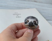 Needle felted lazy sloth bookmark Custom bookmark Bookworm gift for reader Book lover gift