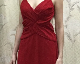Red Evening Gown Etsy