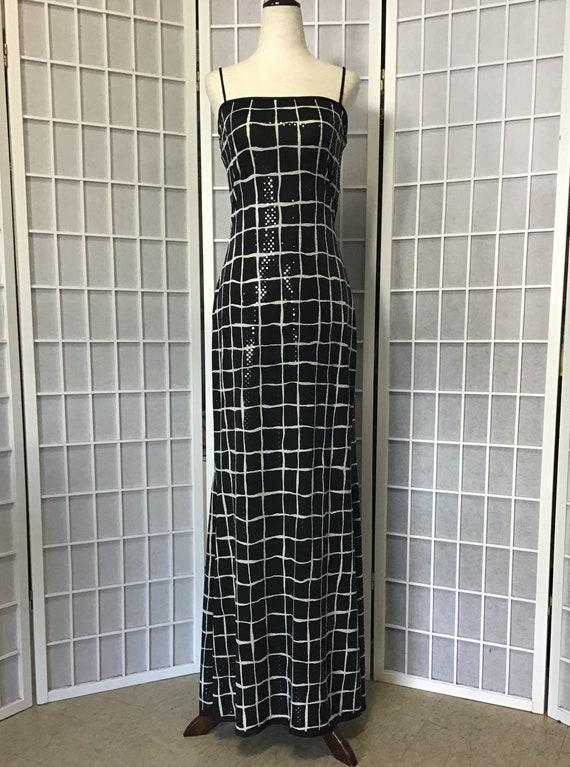 1980s Jessica McClintock Sequin Gown