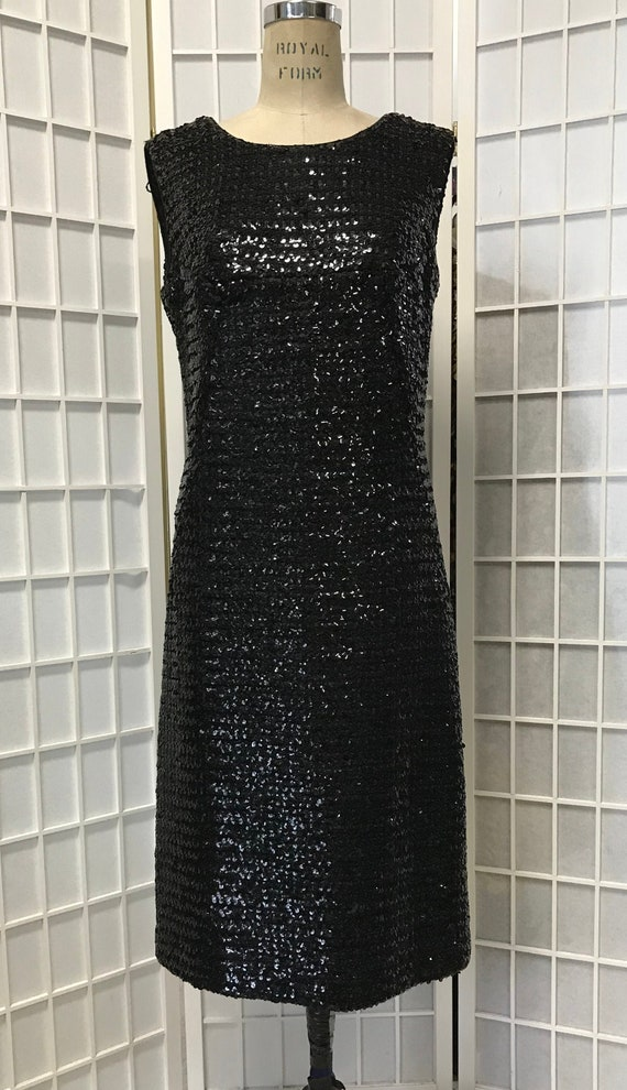 Suzy Perette 1960s Black Sequin Dress