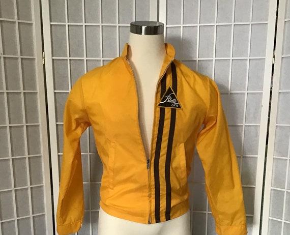 Men's Yellow Blatz Beer Jacket, Yellow Windbreaker