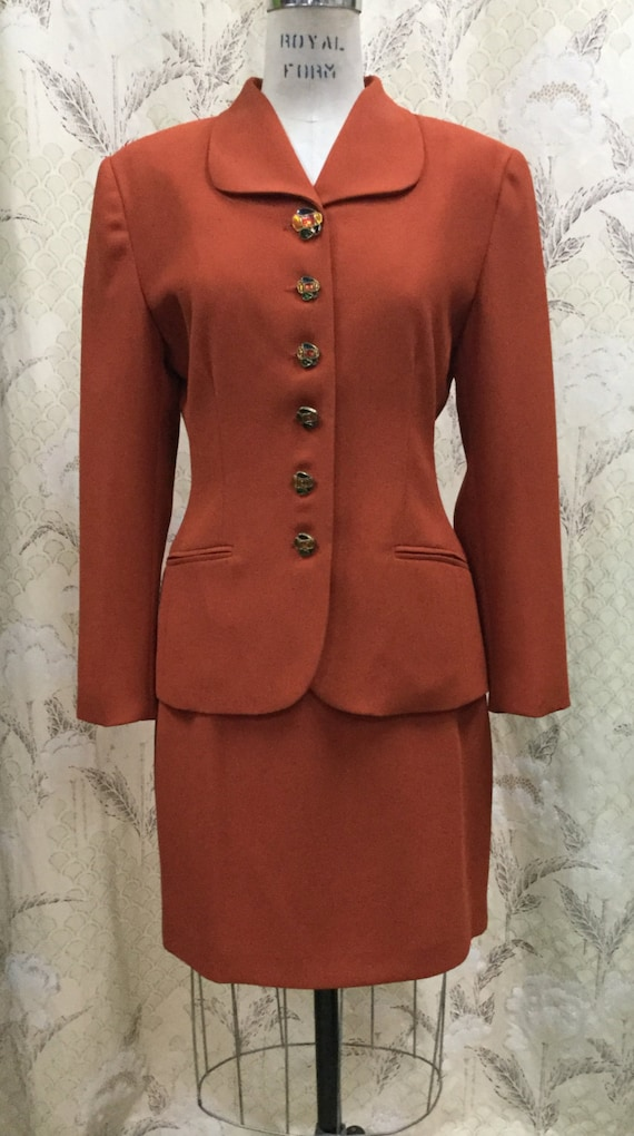 Beautiful Vintage 1980s Rust Colored Two Piece Ski