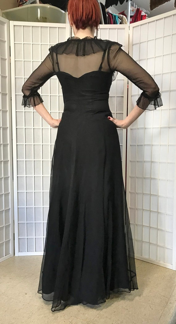1940s Black Evening Gown - image 5