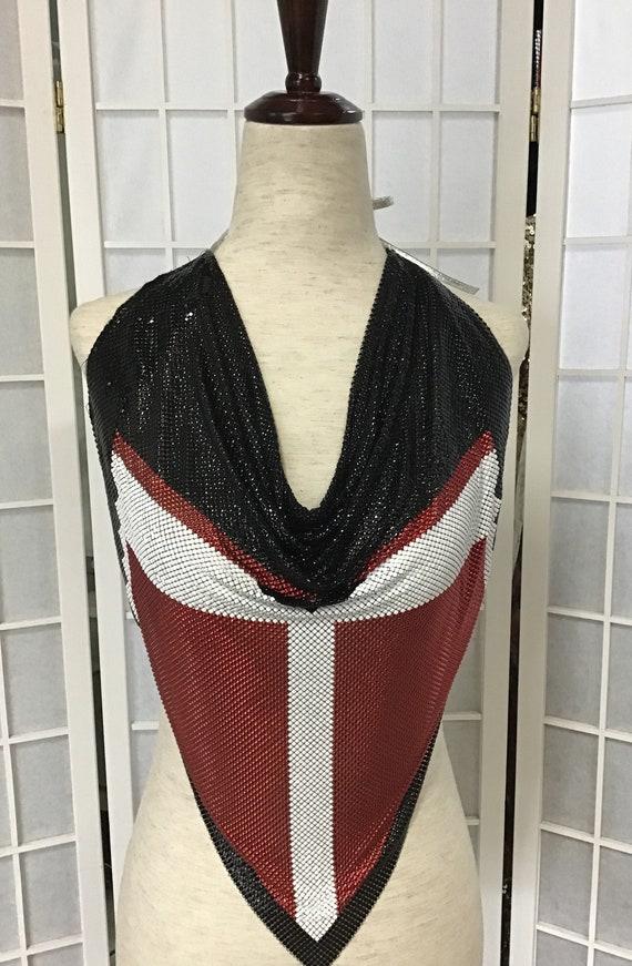 1970s Anthony Ferrara Black, Red and White Metal M