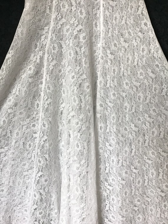1940s White Lace Gown, 1940s Wedding Gown - image 8