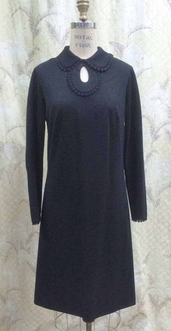 Vintage 1960s Black Cocktail Dress, Toni Todd, 196