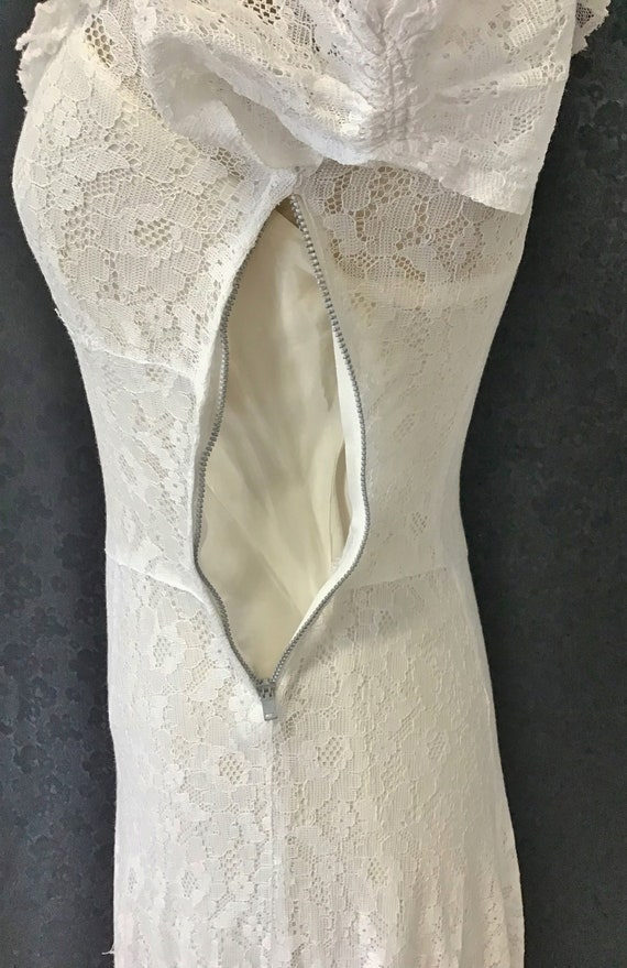1940s White Lace Gown, 1940s Wedding Gown - image 9