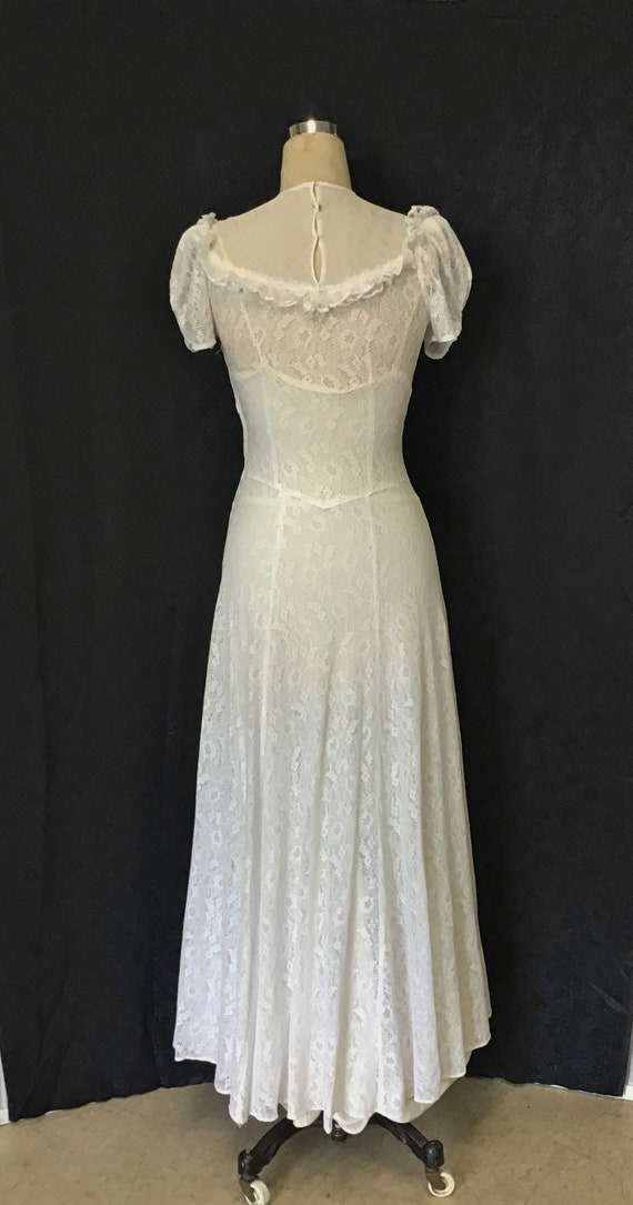 1940s White Lace Gown, 1940s Wedding Gown - image 6