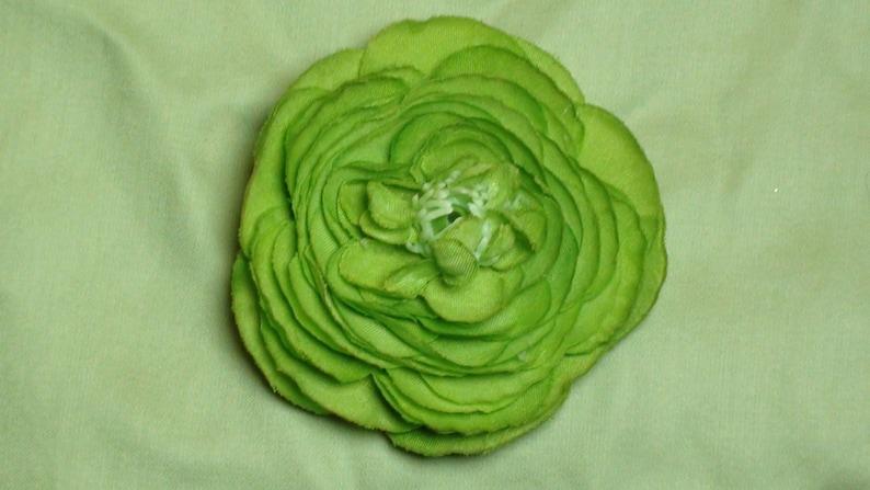 green bows green flowers bows brooch St green flower hair clips Patrick/'s Day Green Flower garden Rose FLOWER HAIR CLIP light green