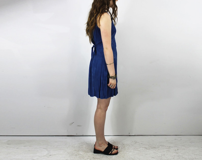 ccc484cccc Blue Button Up Dress // Babydoll Dress / Embroidered Boho   Etsy