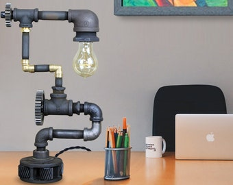 Industrial Desk Lamp - Steampunk Lamp - This Table Lamp will fit in any Steampunk Decor #90