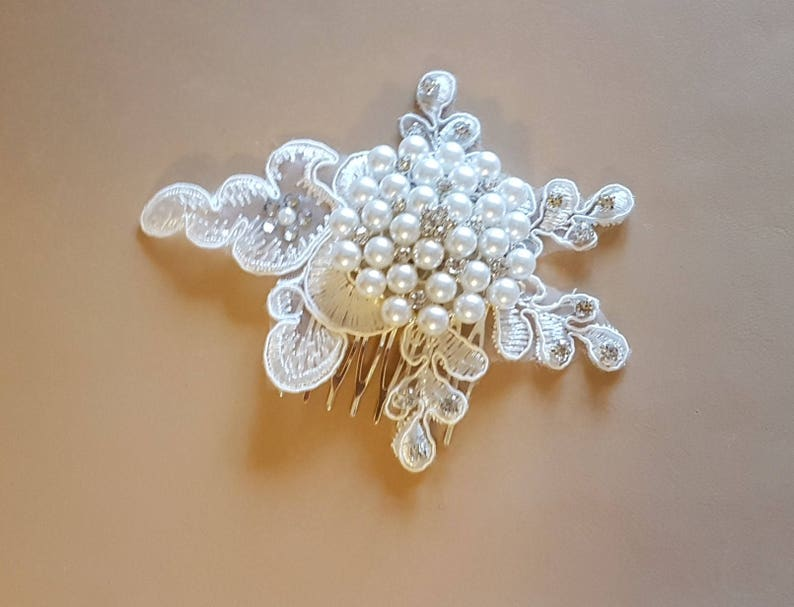 Bridal Cluster Pearl,Crystal hair Clip Bridal comb Bridal headpiece wedding hair piece Hair fascinator Motif hair comb crystal /& pearl