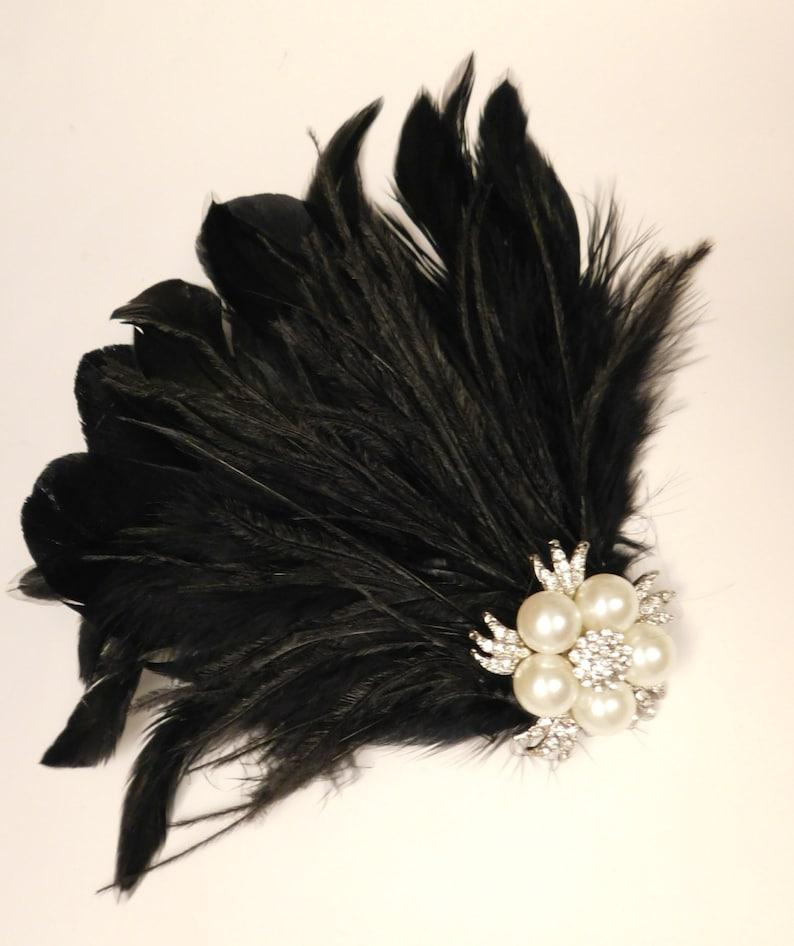 Bridal fascinator Birdcage veil 1920s wedding fascinator Gatsby fascinator Bridal feather fascinator Feather /& Sparkly Jewel fascinator