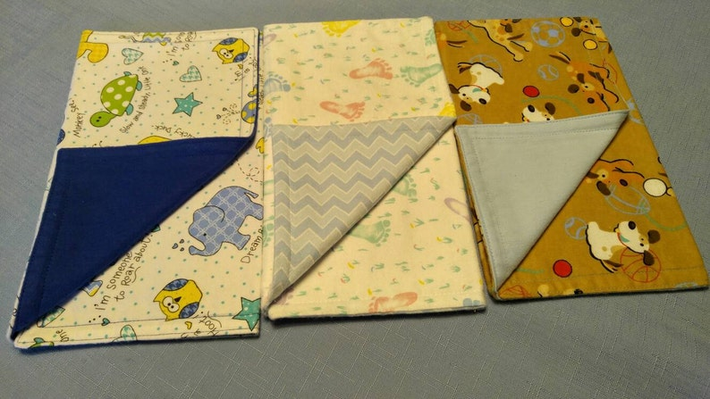 Set of 3 Flannel Burp Cloths