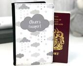 Cloud Passport Cover Personalised Passport Cover Custom Cloud passport holder Children 39 s Cloud passport cover Passport Gift Cloud