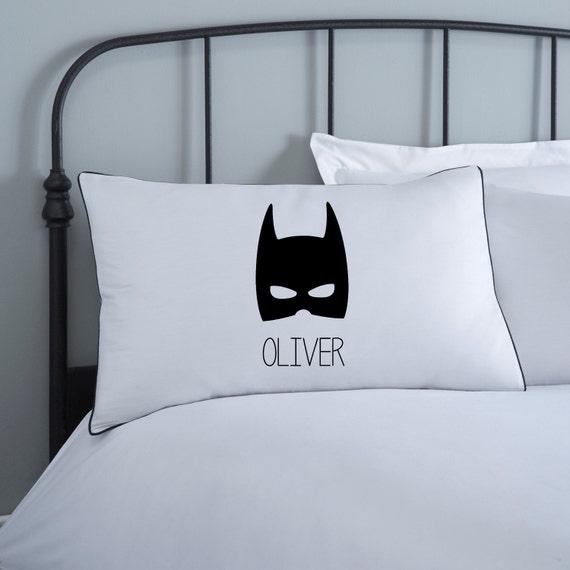Funda de almohada de Batman Niños almohadas Cama monocromo