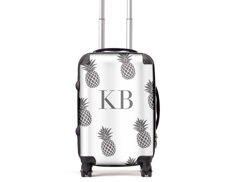 Grey Pineapple Luggage Personalised Suitcase  Custom image 0
