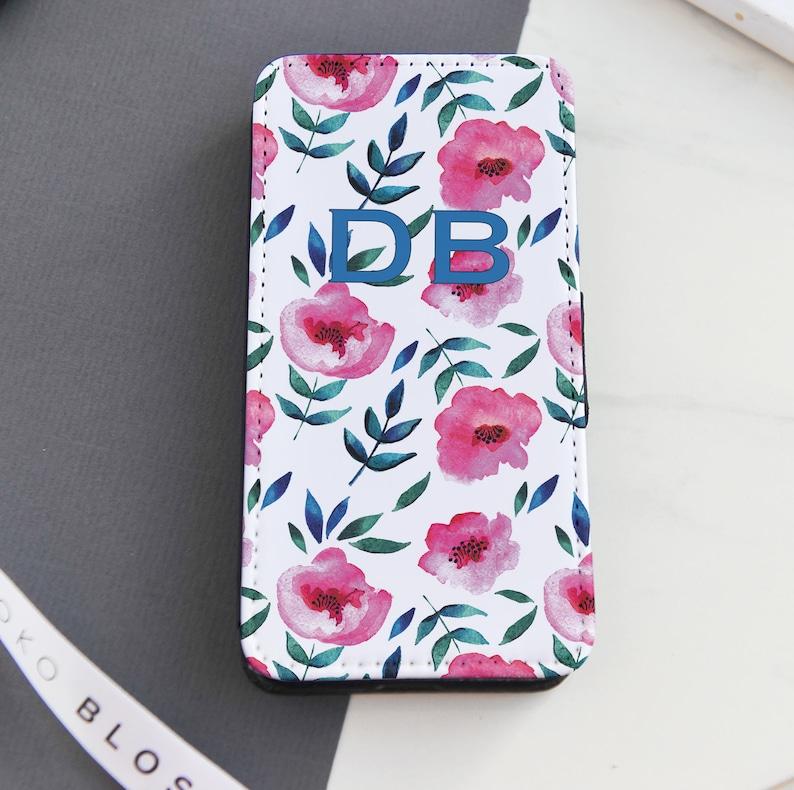 the latest 05a3d 9602b Pink Floral flip phone case   Flip iPhone case   Personalised Flip phone  case   Flip Samsung case   Custom Flip Cell Case   Flip Cell Case