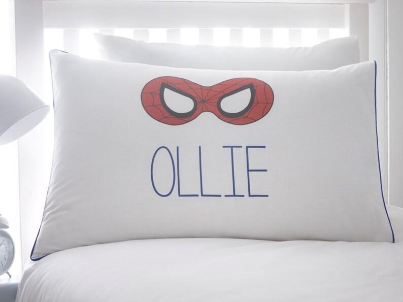 Spiderman Kissenbezug Kinder Kissen Jungen Bettwäsche Etsy