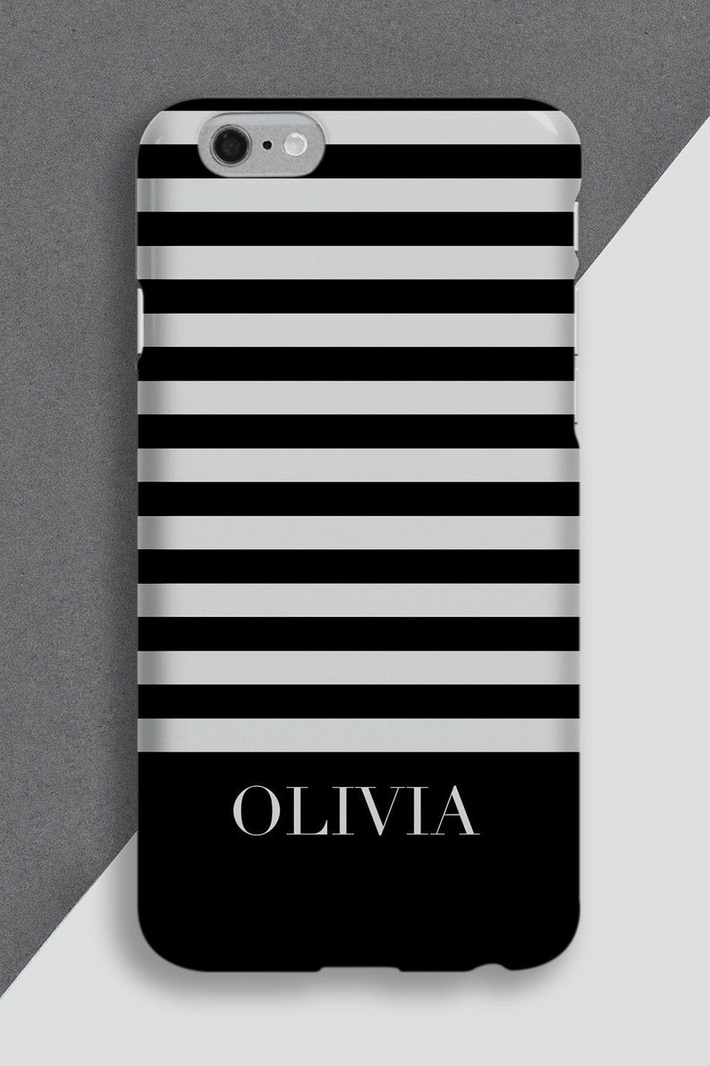 Phone skin Personalised cell case Stripey custom case Striped Personalised phone case Personalised phone case Phone cover