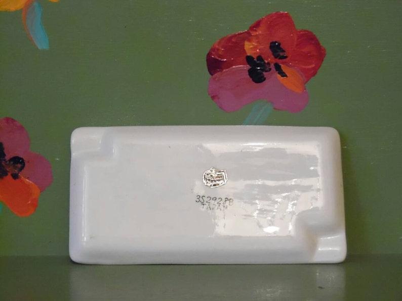 Napco Ashtray Funny Naughty Gag Gift Dirty Joke Novelty Lazy Workers Acme Dish Plate Mid Century Modern Retro Vintage