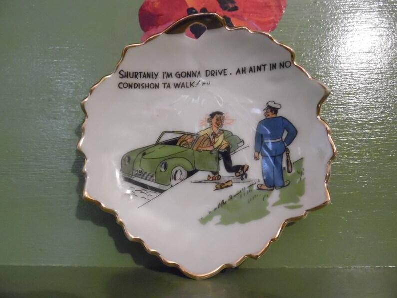 Funny Naughty Ashtray Plate Gag Gift Dirty Joke Sex Cartoon Novelty Drunk  Driving Bar Leaf Mid Century Modern Retro Vintage