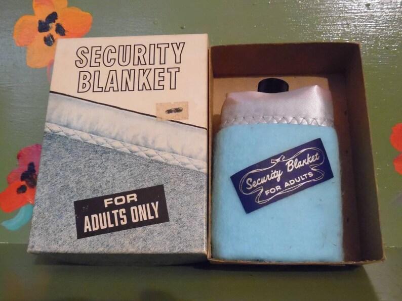 Funny Naughty Gag Gift Dirty Joke Cartoon Novelty Bar Flask Security  Blanket For Adults Mid Century Modern Retro Vintage