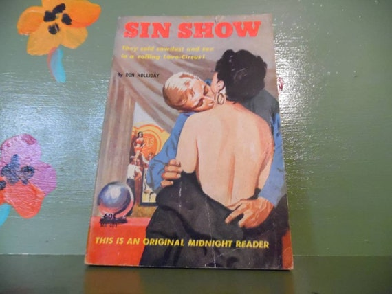 Sin Show Adult Book Smut Sexy Pinup Sleaze Pulp Mature Romance Etsy