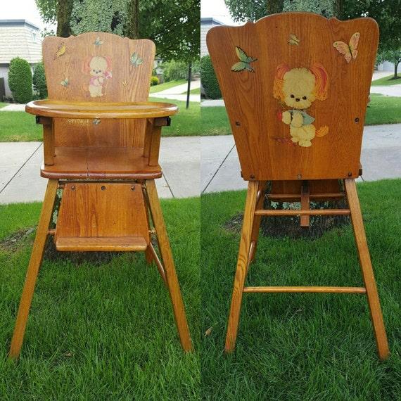 Kitsch Dog Baby Wood High Chair Nursery Prop Boy Girl Cute Etsy