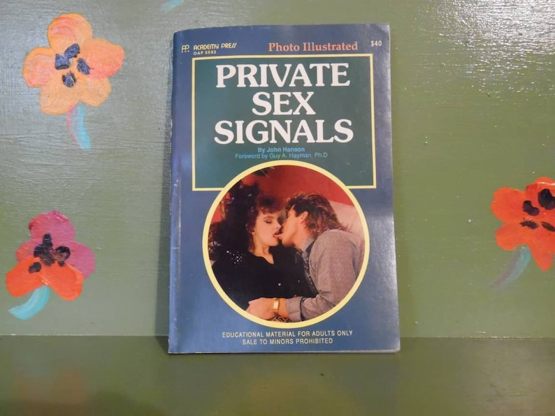 Naughty Mature Book Private Sex Signals Adult Educational Sleaze Smut  Mancave Sexy Novelty Pinup Mid Century Modern Retro Vintage