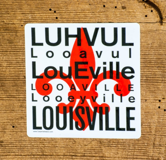 Louisville car decal louisville kentucky car decal car