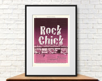 Rock Chick by Kristen Ashley. Book Cover Art Print