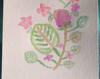 Flowers Watercolor art Digital Print