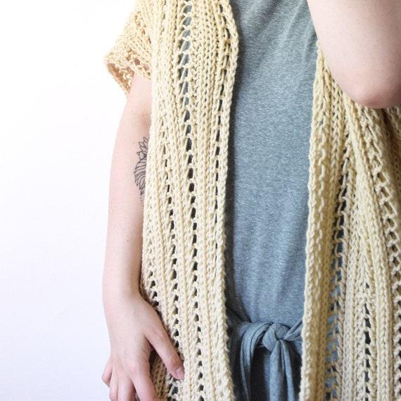 Knit Cardigan Pattern Knitting Lace Shawl Summer Knitwear | Etsy