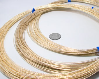 Faceted Sparkle Wire 14/20 Gold Filled 1ft-10ft Gauges 16 18 20 Round Dead Soft USA Made Jewelry