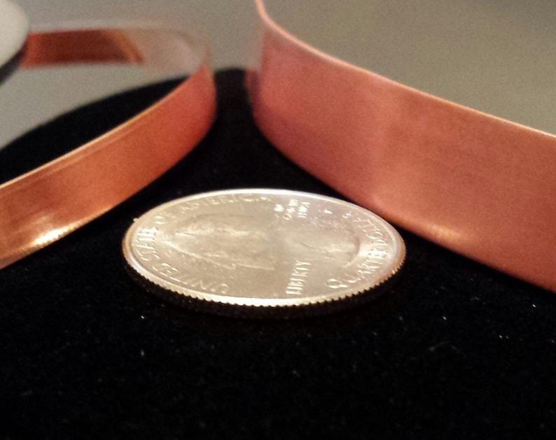 COPPER Strip Bezel 24 and 28 Gauge Dead Soft 5 or 10 Feet 183.18mm 146.35mm 3164.76mm 1212.7mm Bracelet Blank Stamping Bare USA