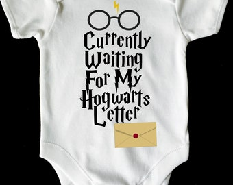 16dc0344740 Waiting for my hogwarts letter Harry Potter baby vest grow  romper  bodysuit