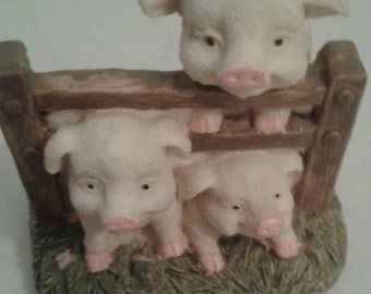 Pig Character Figurines x 6