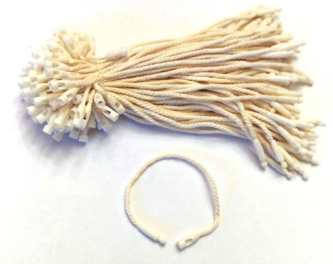 Short Hang Tag Strings: Natural Cotton