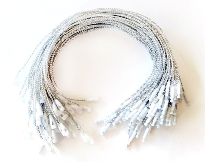 Silver Hang Tag Strings