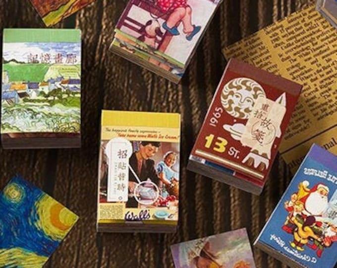 Mini Sticker Books: Retro, Vintage & Artist Styles