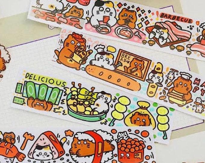 Food Cat Sticker Tape