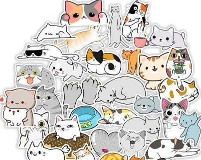 Cat Stickers, Vinyl Waterproof
