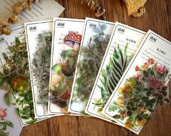 Nature Stickers: Flowers & Leaves