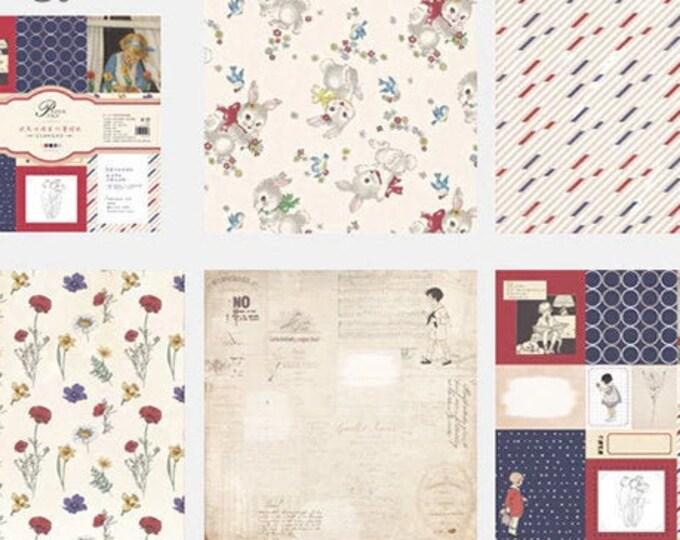 Flower & Rabbit: Cardstock Paper Sets