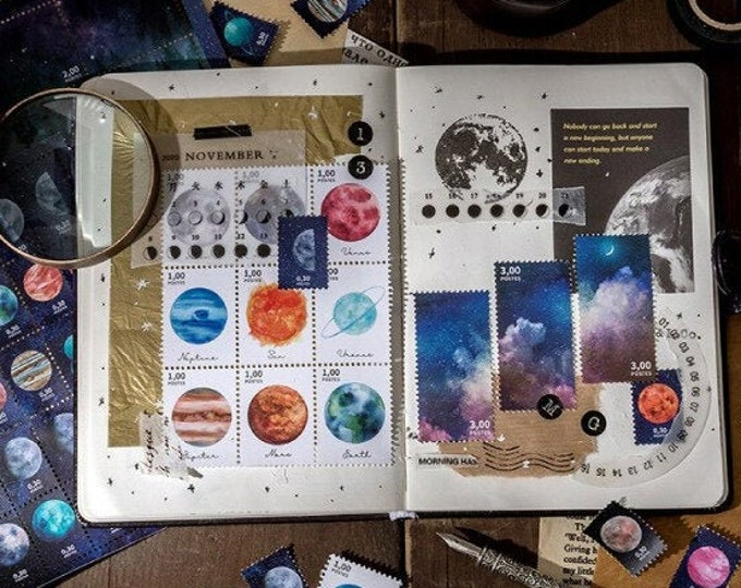 Star Dusted Planet Sticker Sheet
