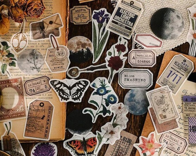 Antiqued Stickers, 4 Styles