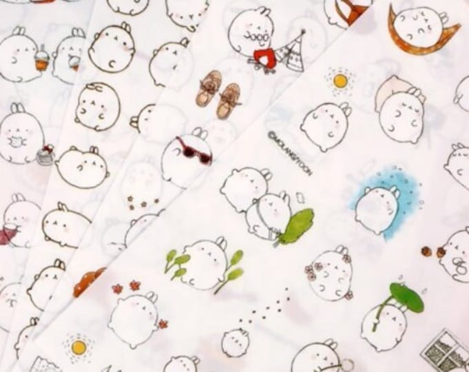 Molang Bunny Stickers: Version 2