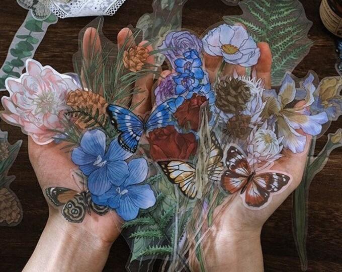 Long Flower & Stem Stickers