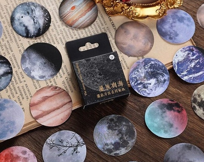 Moon & Planet Stickers